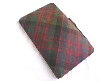 Vintage diary - vintage tartan diary - unused 1940s diary - vintage diary and pencil - Scottish tartan diary