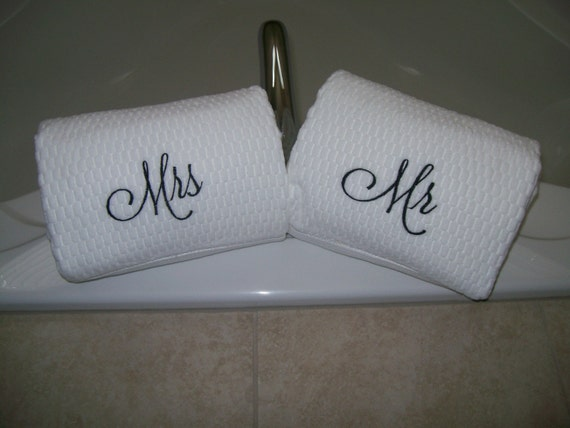 Mr & Mrs Bath Towels - Wedding gift