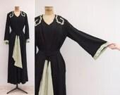 1930s Dress - Vintage 30s Kimono Sleeve Gown - Evening Reverie Dress