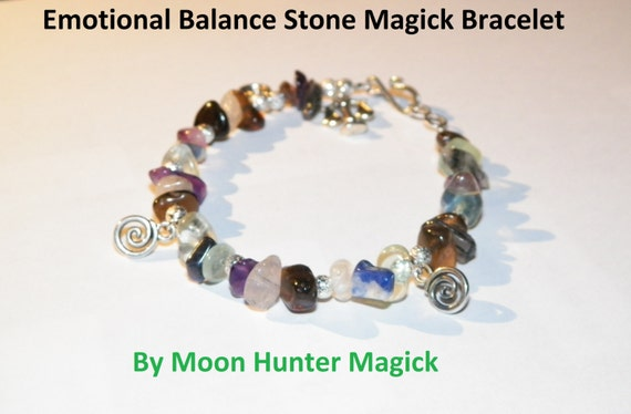 Stone Magick Emotional Balance Bracelet Anti-Depression Crystal Healing Charm