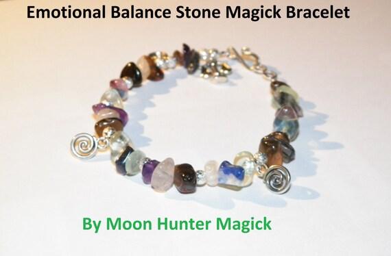 Stone Magick Emotional Balance Bracelet Anti-Depression Crystal Healing Charm