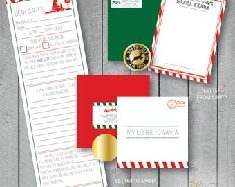 Letters to Santa Kit - Complete with a Fill in Letter to Santa and From Santa!