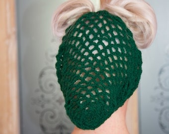 Green Crochet Snood / Hair Net