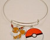 Video Game GIfts // Gamer Gifts // Gamer Jewelry // Gamer Bracelets // Video Game Inspired Eevee Evolutions Charm Bangle Bracelets