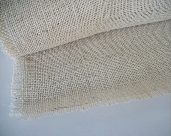 Items similar to 3 foot white burlap table runner 12 for 12 ft table runner