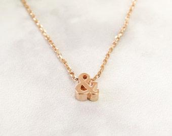 Ampersand Rose Gold Necklace