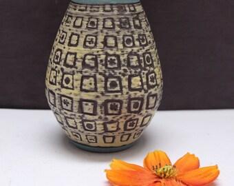 M & R  Marzi  and  Remi Keramik VASE Fat Lava 60's/ 70's Mid Century West German Pottery