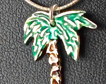 Palm Tree Pure Silver Pendant
