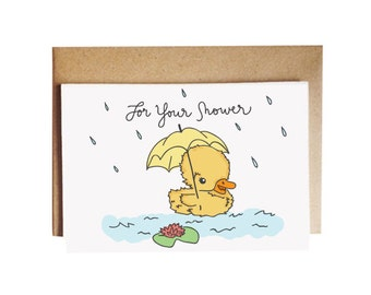 For your shower card