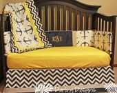 Anchor baby bedding yellow grey navy design your own made to order