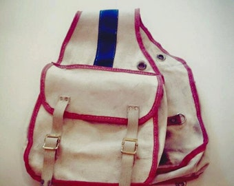 Vintage American Made Canvas Saddlebags