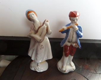 Musician Figurines - Vintage - Occupied Japan - Pair