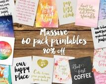 Dorm Decor - Inspirational Quote - Printable Quotes - Instant Download - Printable Art - Quote Printable - Office Decor - Printable Pack