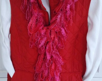 Loopy Scarf Boa in Various Shades of Red