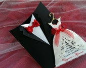 Not for Public Purchase Custom Order for elirodriguezus2003 - 55 invitations bride + 55 boxes groom