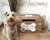 LARGE Doggy Toy Box - Handmade, unique and totally GORGEOUS!