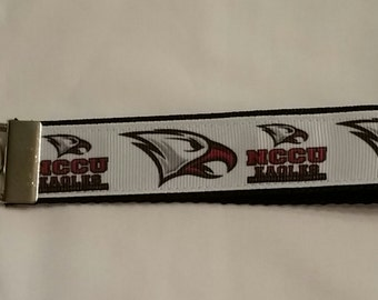 Handcrafted NCAA North Carolina Central University Eagles Key Chain Wristlet NEW