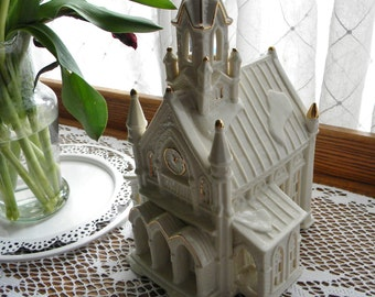 Ceramic Church / Church with tall steeple / Cathedral