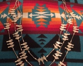Vintage Old Pawn Native American Fetish Birds Necklace