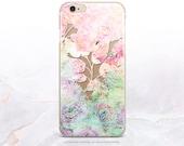 iPhone 7 Pink Floral Clear Rubber Case iPhone 7 Plus Clear Case iPhone 6 Clear Case iPhone 6S Case iPhone SE Case Samsung S7 Edge Case U184