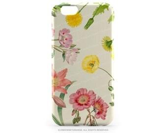 iPhone 6S Case Vinatge iPhone 6S Plus Case Spring iPhone 5s Case Pink Lily Floral iPhone 6 Plus Case iPhone 6 Case Poppy iPhone 6s Case R4