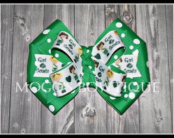 Girl Scout Ribbon Bow (green)