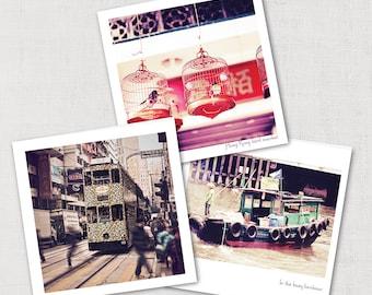 Hong Kong Photo cards,Asian Greeting cards,Hong Kong gift cards,set of cards,photography cards,asian photo cards,