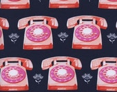 Telephones in Navy - Trinket collection - Cotton + Steel - Fat Quarter, Half Yard, or More