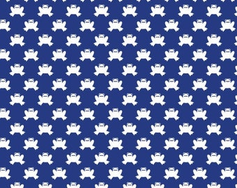 Hopping Along in Navy - Lotus Pond collection - Cloud 9 Fabrics - Fat Quarter, Half Yard or More
