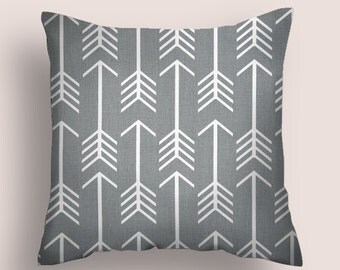 Pillow Cover Decorative Pillows Arrow Pillow Grey Pillow 8 Sizes Available Cushion Covers Throw Pillows