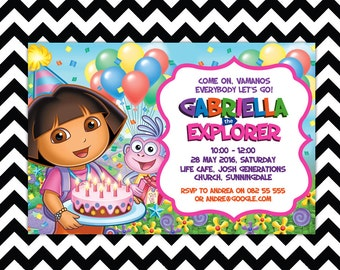 Dora Digital Invitation