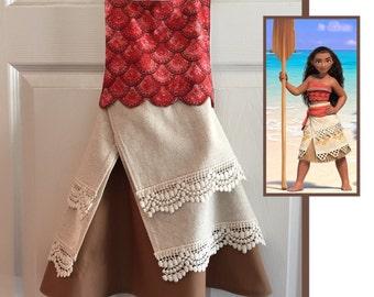 Moana, Polynesian Princess Inspired Apron