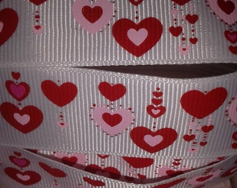 Red Hearts #3 Grosgrain Ribbon