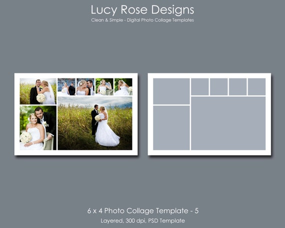 6 x 4 photo collage template 5 for 4 picture collage template