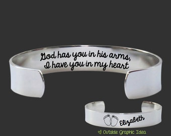 Sympathy Gifts | Memorial Gifts | Bereavement Gifts | Condolence Gift | God has you | Custom Personalized Bracelet Korena Loves