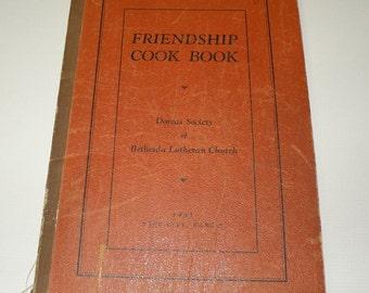 1934 Friendship Cook Book Bethesda Luteran Church Page City, Kansas
