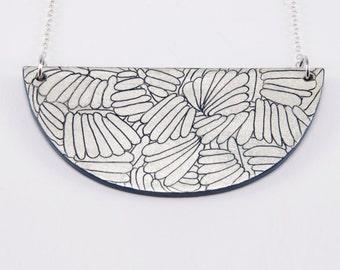 Necklace, Laquer & Gold Leaf