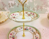 Vintage Hand Painted Mini Cake Stand