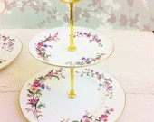 "2 Tier cake Stand ""Devon Spray"" Wedgwood. Unused"
