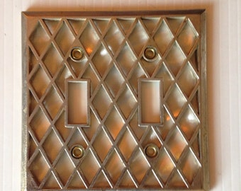 Switchplate Electrical double Switch Cover 70s Decorative Switch Plate outlet Cover