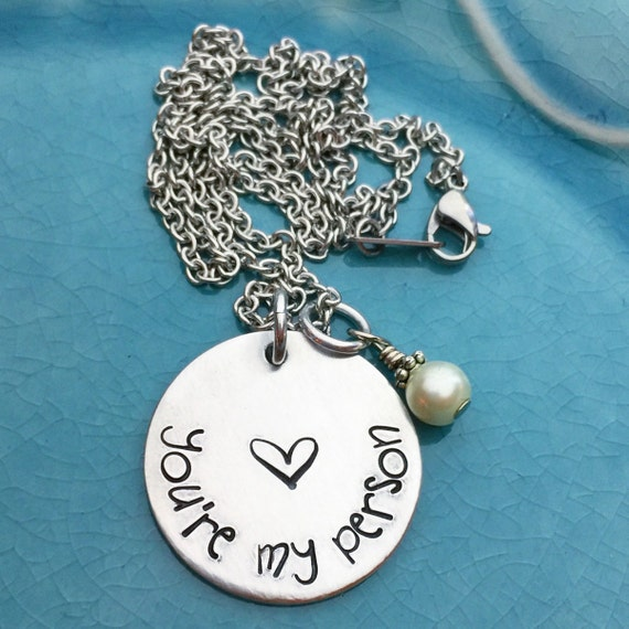 you re my person best friend necklace grey s by illbecharmed