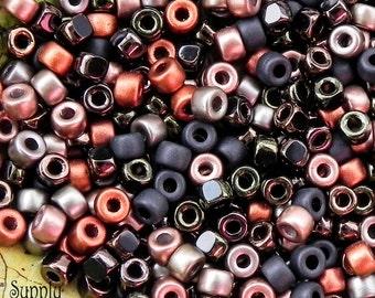 Size 6/0 Matubo Blackened Copper Seed Bead Mix - 1 grams - Blackened Copper Matubo 6/0 Seed Bead Mix - 1759