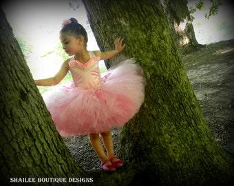 Ballerina costume 2pc ,pink tutu dress,ballet birthday party tutu dress,ballerina bithday pink tutu MADE TO ORDER