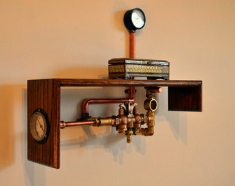 SOLD-----Steampunk Industrial Home Decor- Steampunk Furniture