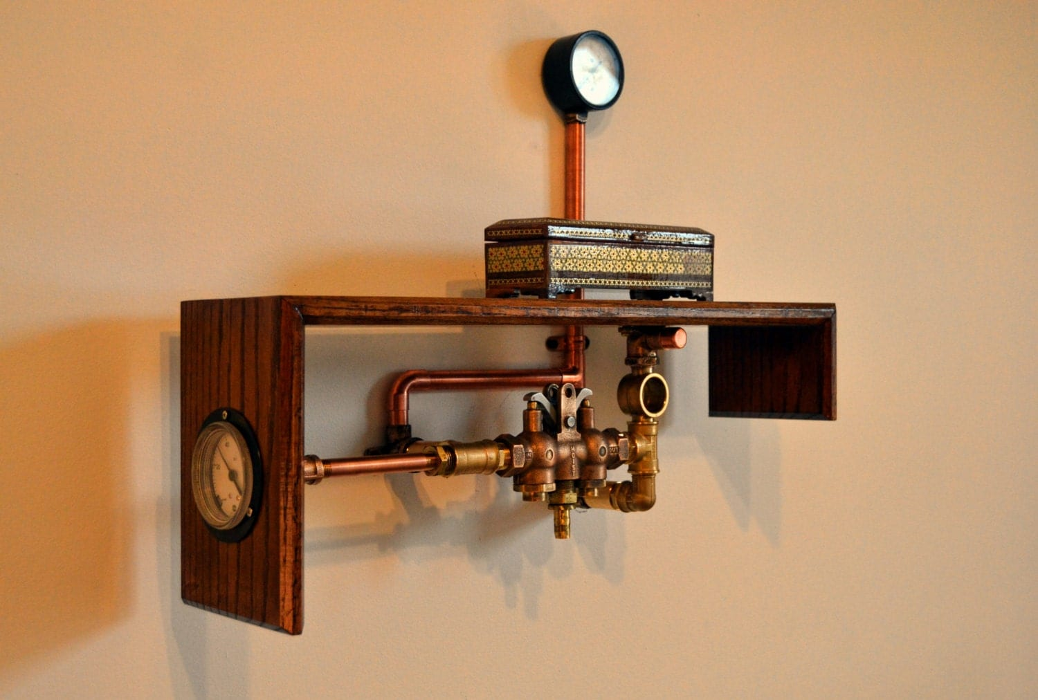 Soldsteampunk industrial home decor steampunk furniture for Home decor and furniture
