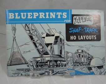 1960 Blueprints for Atlas SNAP-TRACK HO Layouts Booklet