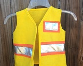 Yellow construction worker dress up vest dramatic play costume toddler child kids birthday party theme photo prop dress up size 1 2 3 4 5 6