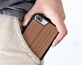 iPhone 7 Plus Wood Case, Walnut Wood iPhone 7 Plus Case, iPhone 7 Plus Wooden Case - SHK-W-I7P