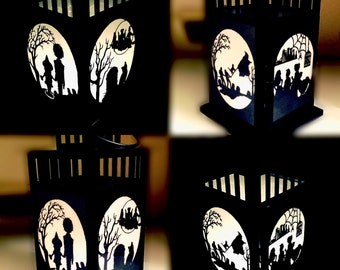 Hocus Pocus Inspired Patterned Metal Lantern
