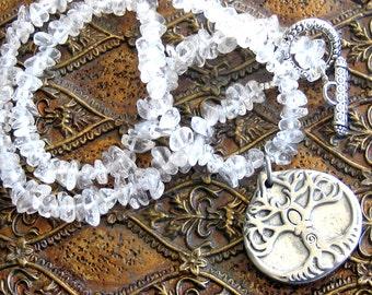 Tree Goddess Crystal Quartz Necklace
